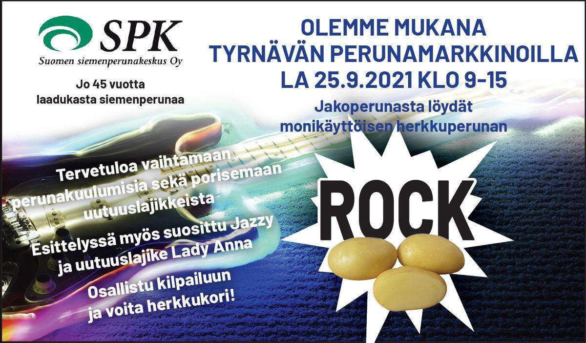 Olemme mukana Tyrnävän perunamarkkinoilla 25.9.2021